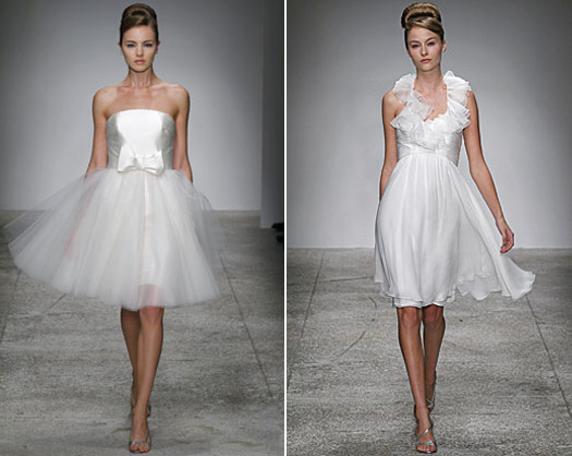 Amsale short wedding dresses