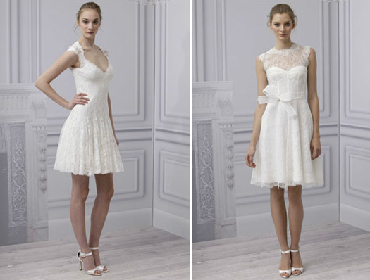 monique lhuillier short wedding dress