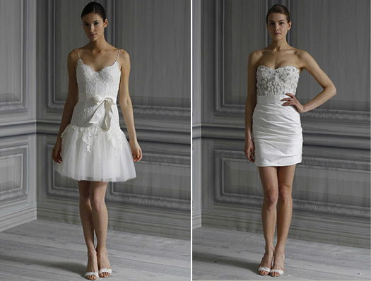 monique lhuillier short wedding dresses