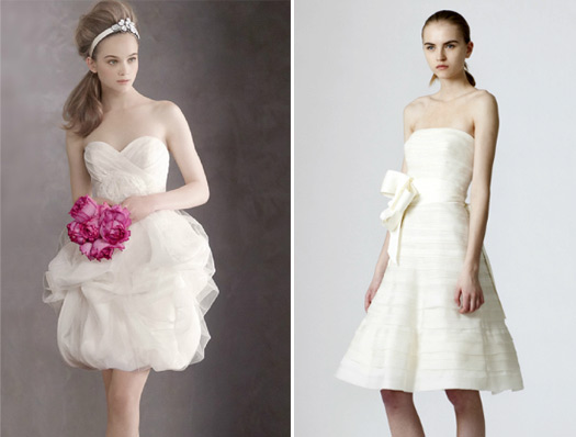 vera wang tea length wedding dresses
