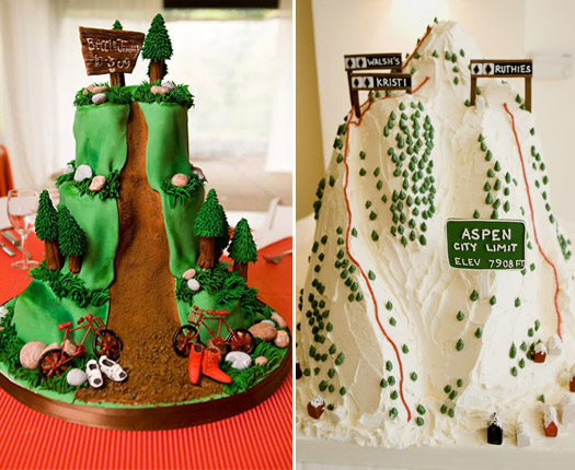wedding mountain cakes