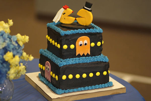 pac man wedding cake
