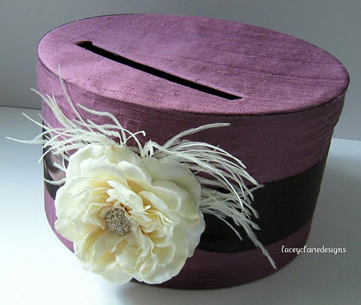 purple wedding cardbox