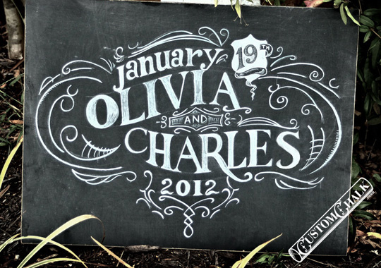 Chalkboard Wedding Sign This Personalized