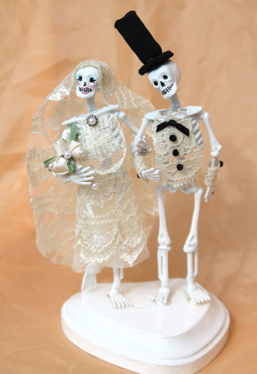 skelton wedding cake topper