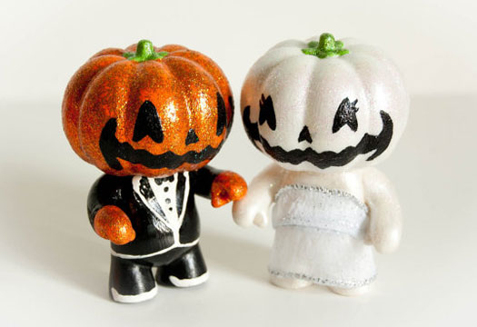 pumpkin wedding cake topper