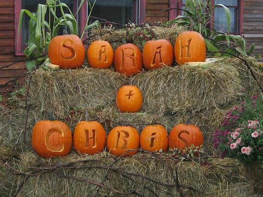 wedding pumpkin carvings