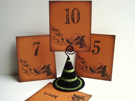 halloween wedding table numbers