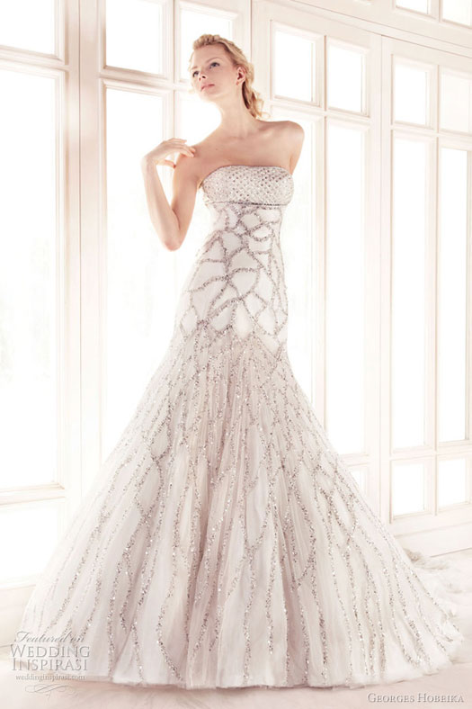 Wedding Dresses With Crystals : Bridal gowns with bling bravobride