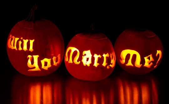 will you marry me pumpkins