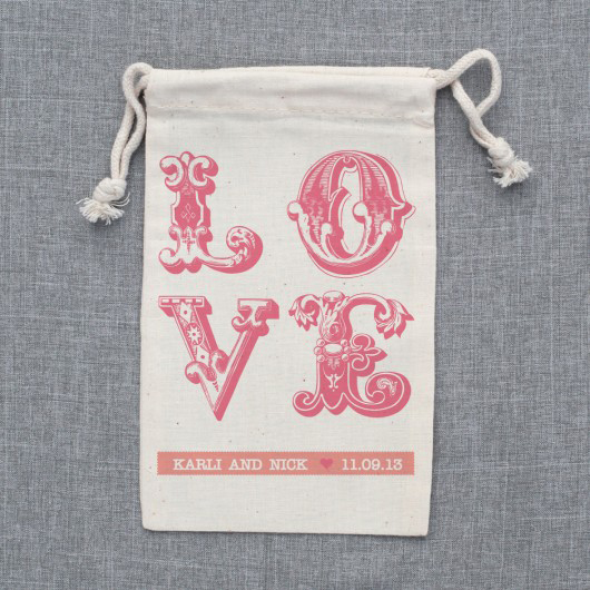 wedding favor bags personalized
