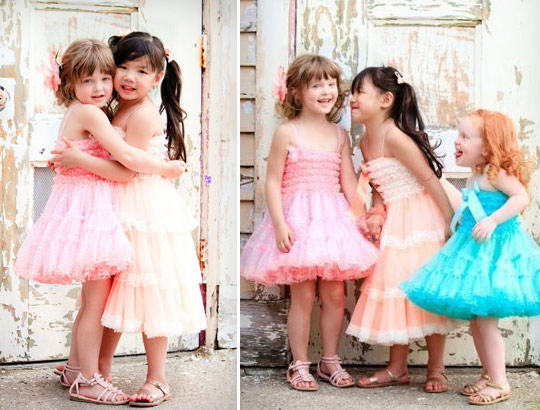 colored flower girl dresses