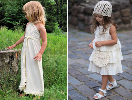 cotton flower girl dresses