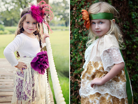 Bohemian flower girl dress