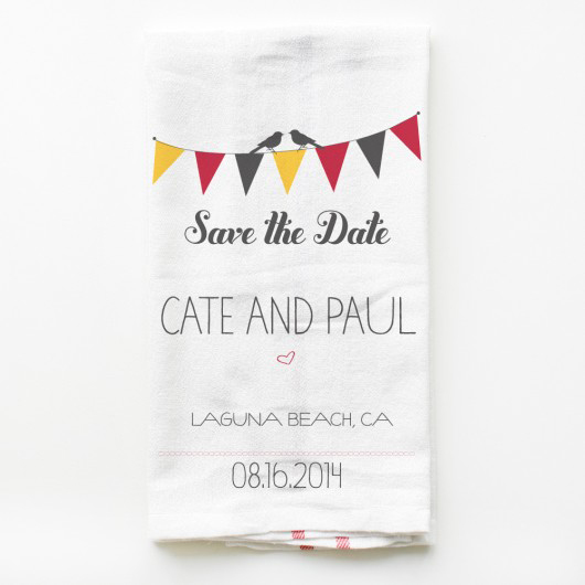 wedding kitchen towel