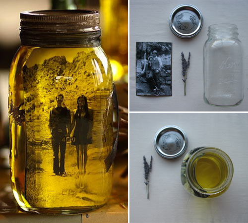 mason jar with photo