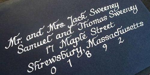 balck and white wedding invitations