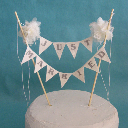 just married bunting wedding cake topper amp funky wedding cake bunting toppers us206 16614