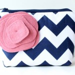 chevron clutch purses