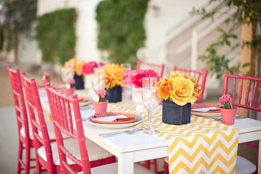 chevron wedding theme