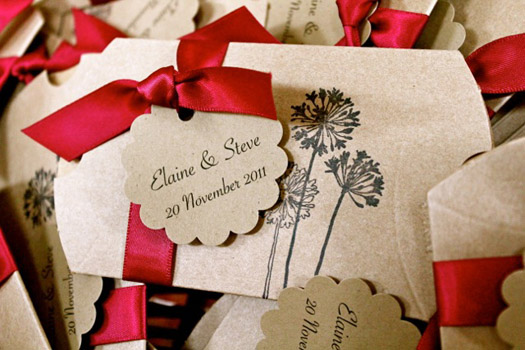 pillow box wedding favors