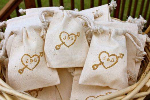 custom wedding favor bag