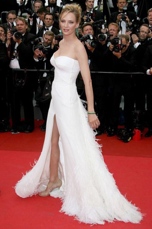 Uma Thurman Versace dress