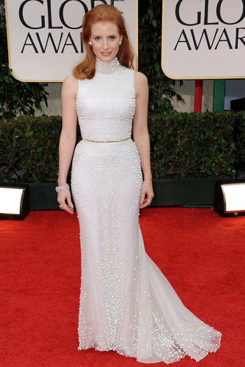 Jessica Chastain Givenchy golden globe gown