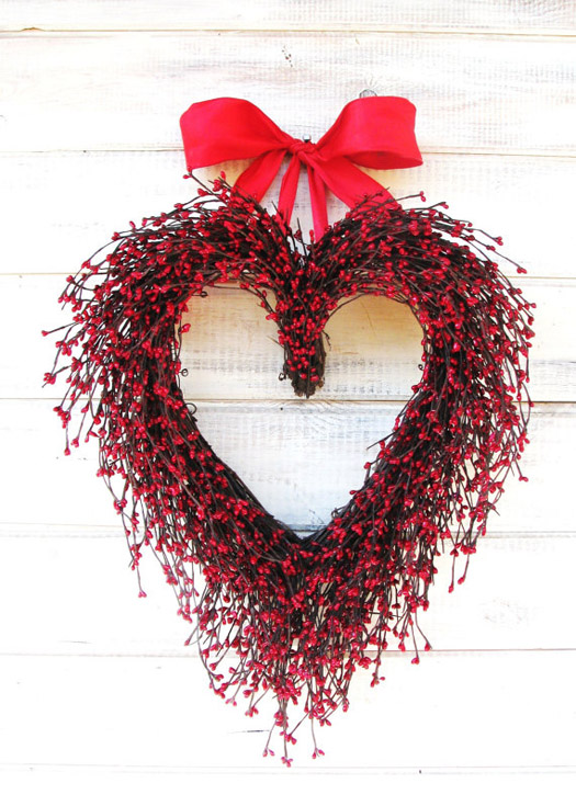 heart wedding wreath