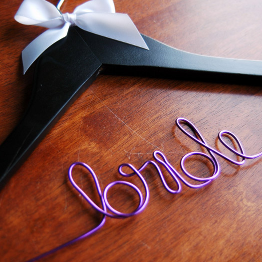 bride wedding dress hangers