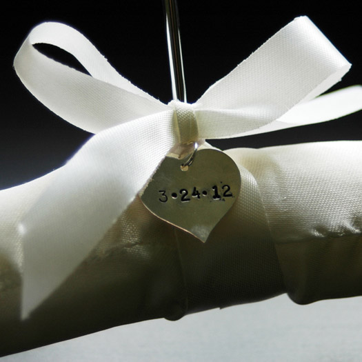 satin wedding hangers