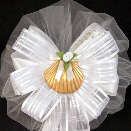 beach wedding bow