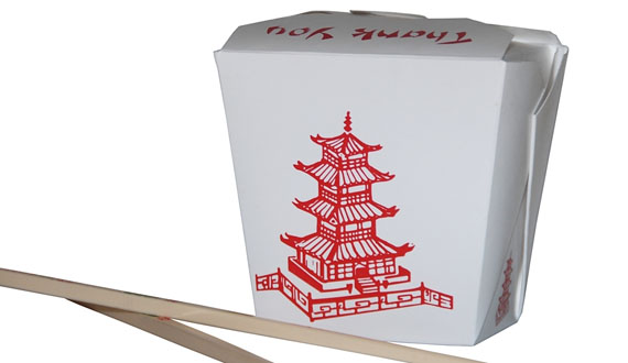 Chinese Food Box Template. Vecteur Carré Papier Millimétré D ...