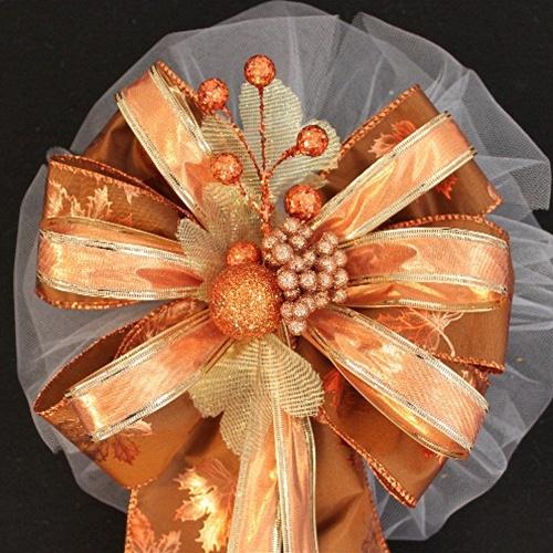 fall wedding bows