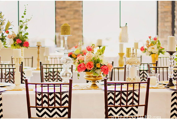 Chevron wedding decoration 11
