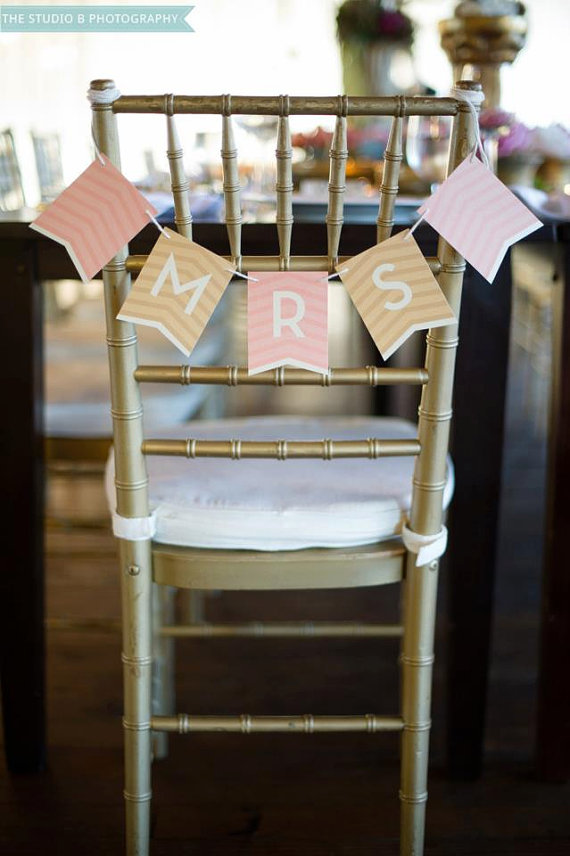 chevron wedding decoration