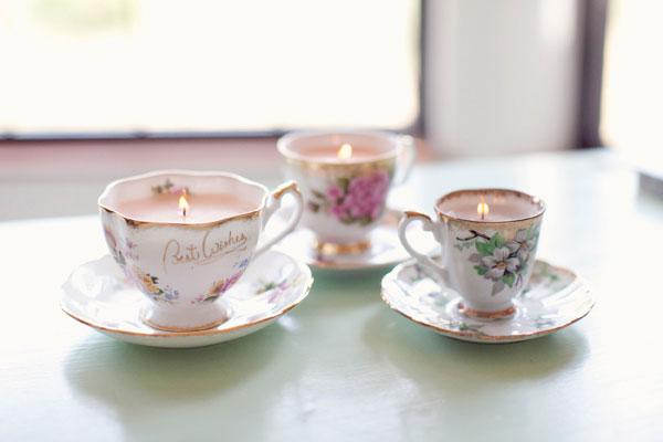 wedding favor ideas tea cup vintage