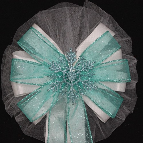 winter wedding bow