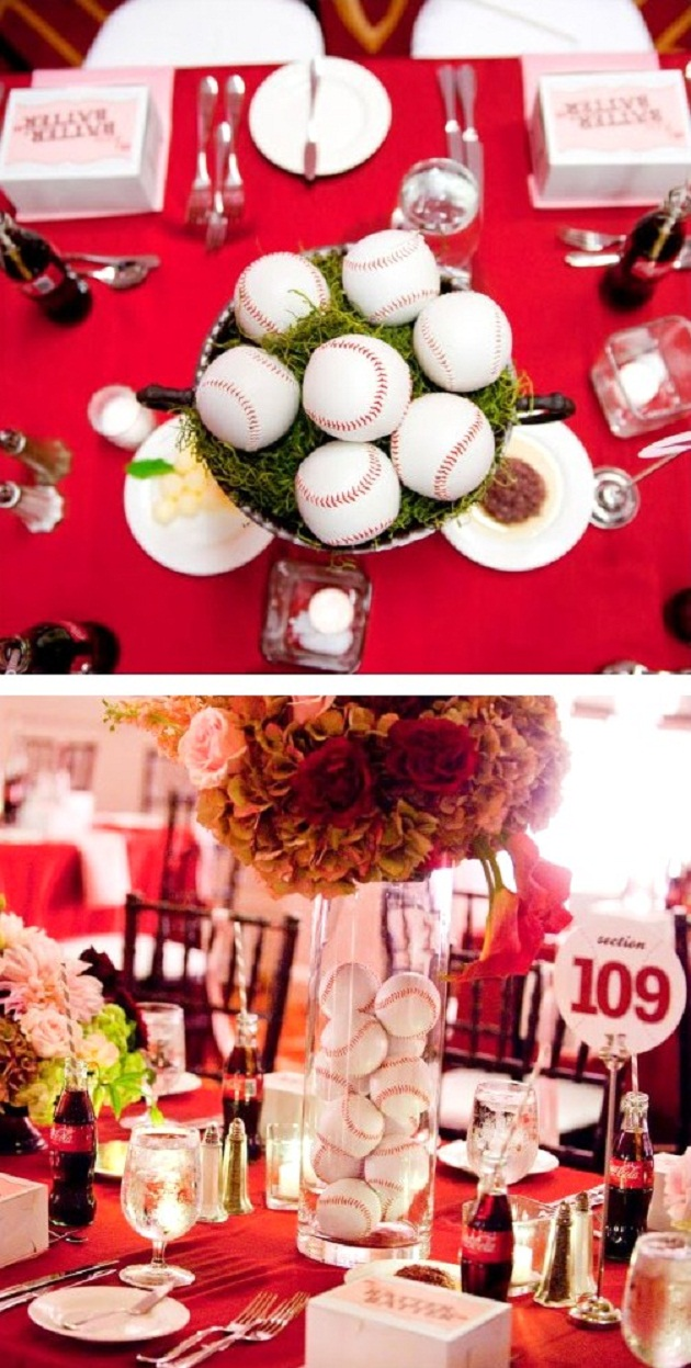 baseball wedding theme decor