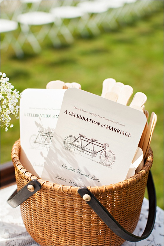 bicycle wedding fan favors