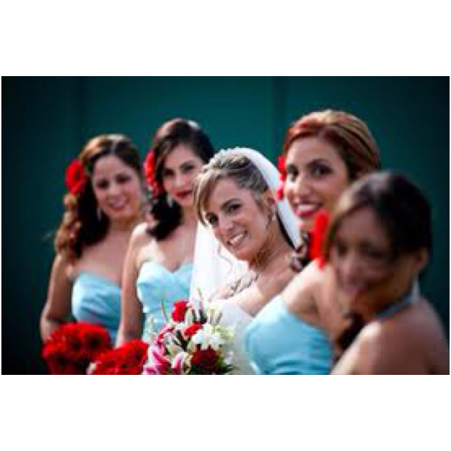 baseball wedding theme bridesmaids