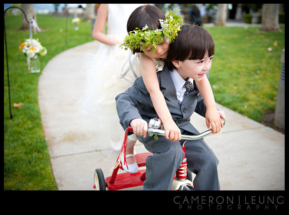 bicycle wedding aisle