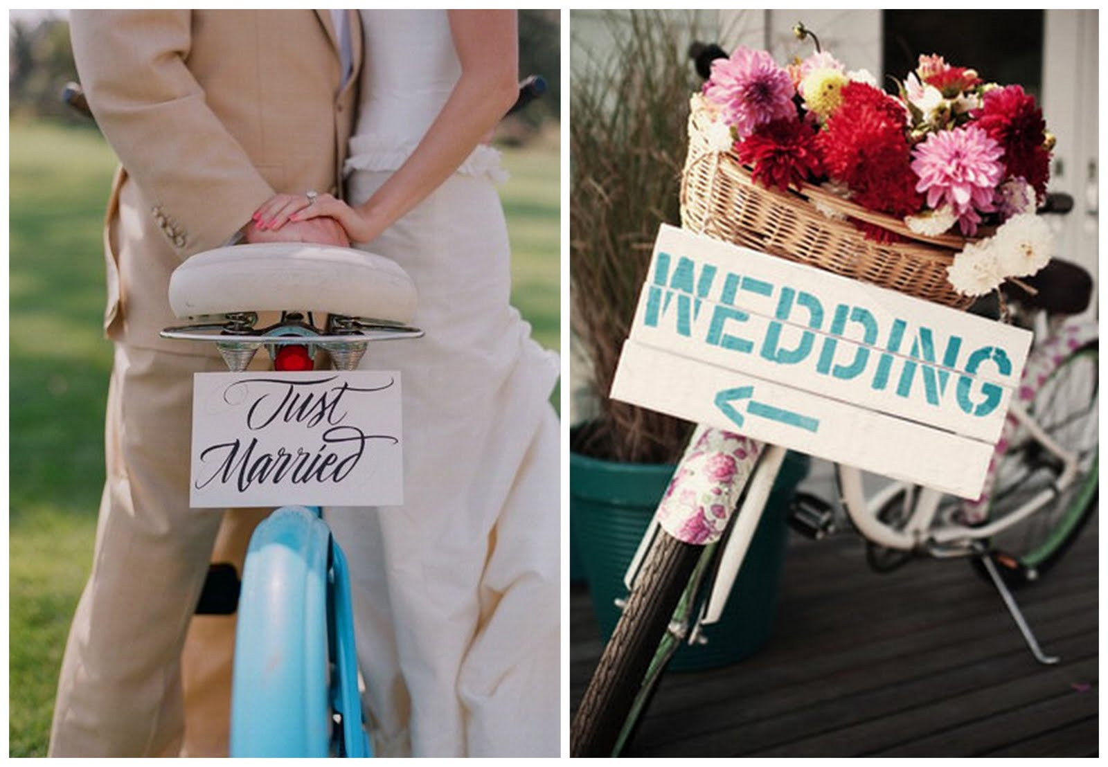 bicycle wedding theme big day