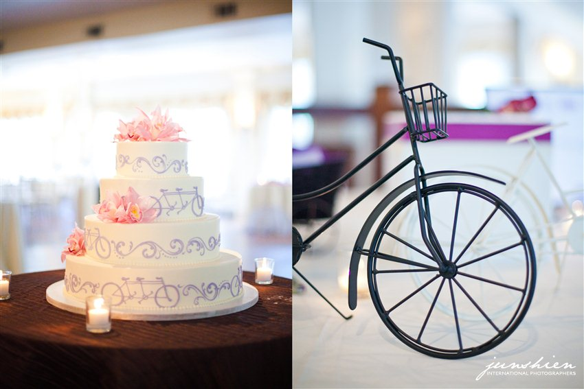 bicycle wedding theme