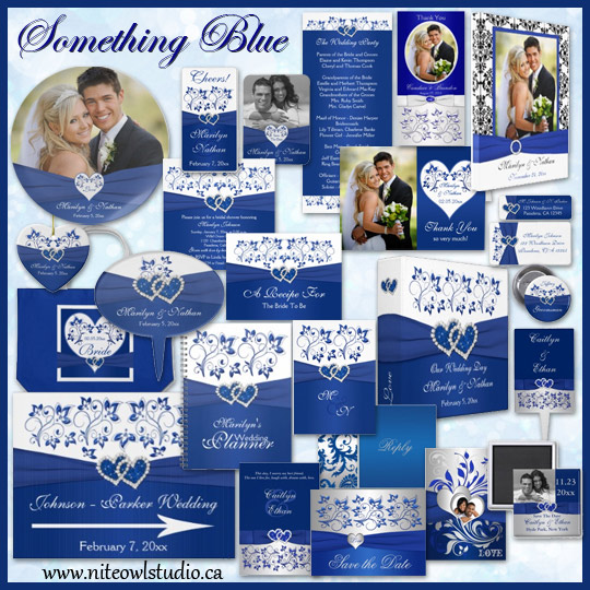 Royal Blue Wedding Invitation Templates Blue Wedding Invitations