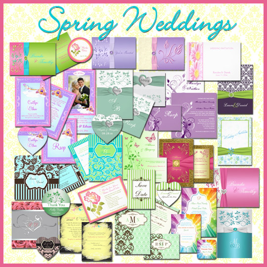 Spring wedding invitation designs