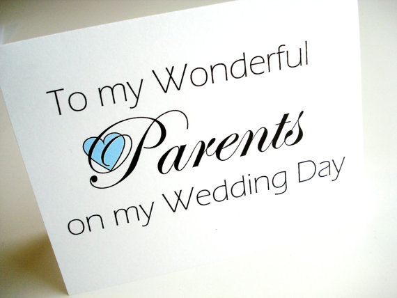 Wedding Thank You Cards parents