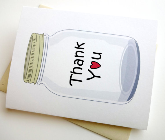 thank you card wedding stationary