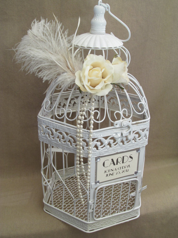 in vintage birdcage wedding card holders . After your wedding ...