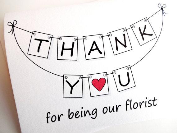 Wedding Thank You Cards florist